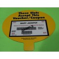 Voucher-Coupon Double Sided Sign